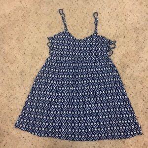 White and blue evening/beach dress